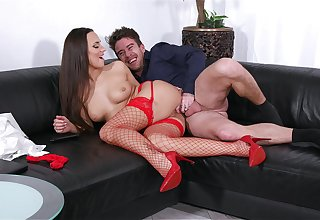 Deep pussy and anal with a MILF relating to sexy red stockings