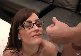 Pornstar Lisa Ann in all directions glasses fucked by her younger lover