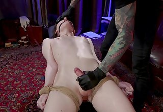 Filial pale Tgirl Claire Tenebraru moans as she is analfucked doggy