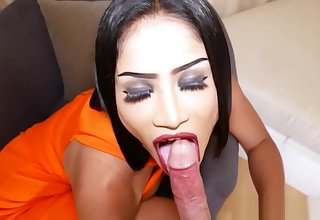 Hard with an increment of rough bareback anal set-to with a hot ladyboy