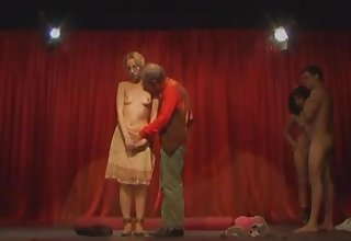 Italian kinky theater hot sex orgy