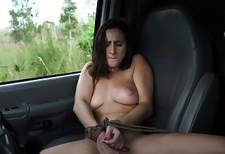 French maid bondage and huge dildo possession This new