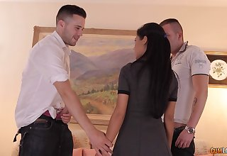 MMF threesome with Latina professional escort Apolonia. HD video